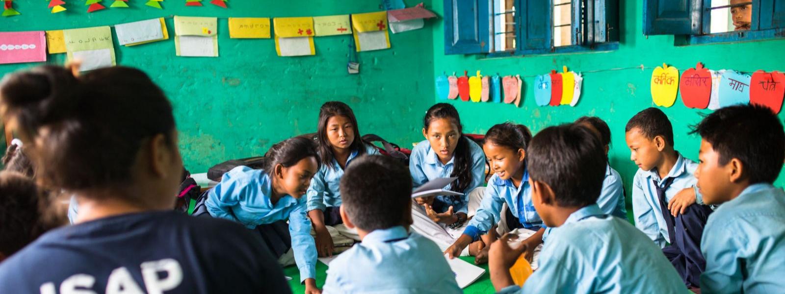 Klasseværelse i Nepal Changing Stories